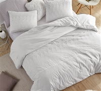 Easy to Match White Extra Large King Comforter with Coziest Cotton Material and Thick Inner Fill