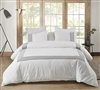 Oversized King Duvet Cover with Gray Textured Border Design and Most Comfortable Cotton Material