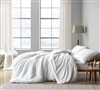 Luxuriously Soft Machine Washable Plush Material in Stylish White Color Oversized Queen Duvet Cover