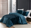 Luxurious Thick Plush Extra Large King Duvet Cover in Stylish Navy Blue Color and Machine Washable Material