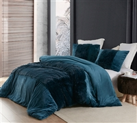 Extra Large Queen Duvet Cover in Fashionable Navy Blue Color and Softest Luxury Plush Material