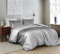 Coma Inducer Duvet Cover - Ombre Velvet Crush - Light Gray/Dark Gray
