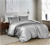 Stylish Crushed Velvet in Easy to Match Gray Oversized King Duvet Cover in Coziest Plush Material