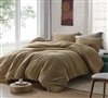 Softest Extra Large Queen Duvet Cover with Luxury Plush Material in Stylish Easy to Match Taupe