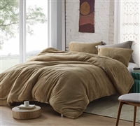 Coma Inducer Queen Duvet Cover - Teddy Bear - Taupe Natural