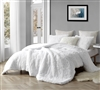 Luxuriously Soft Wild Plush Extra Large Twin XL, Queen, or King Comforter in Easy to Match White Shade