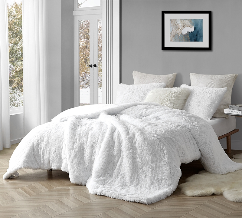 Island Paradise//White are You Kidding? Byourbed Coma Inducer Twin XL Duvet Cover