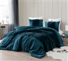 Unique Navy Oversized Twin XL Comforter with Cozy Luxury Plush and Thick Inner Fill