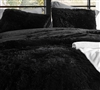 Cozy Plush Easy to Match Black Standard Shams for Twin, Full, or Queen Bedding