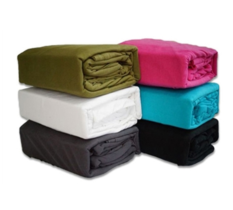 4 pc College Dorm Jersey Knit Cotton Twin Long Sheets Fitted, Flat,Sets Set