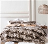 Faux Fur Plush Comforter with Extended Twin, Queen, or King Bedding Dimensions