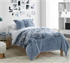 Blue Extra Large Twin Comforter Set Made with Ultra Cozy Machine Washable Plush Bedding Materials