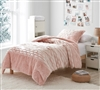 Beautiful Light Fawn Twin Oversized Bedspread with Standard Sham and Stylish White Tufts