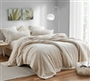Oversized California King Sheets with Softest Thick Plush Material in Creamy Beige Shade