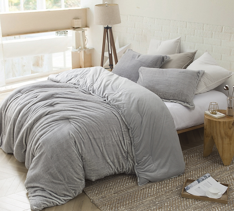 Best Queen Xl Comforter For Queen Size Bed One Of A Kind Tundra Gray