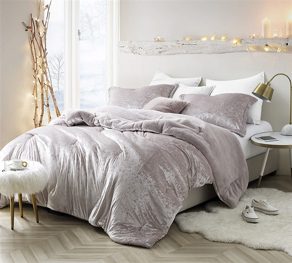 High Quality Twin XL Oversize Comforter Unique Champagne Pink Velvet Crush Coma Inducer Velvety Soft Twin XL Bedding