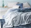 Twin XL Blanket with Softest Microfiber Material in Stylish Blue Shade and Frosted Sheen