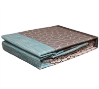 Full Sheet Set Dove Aqua - Comfortable Bed Sheet Sets