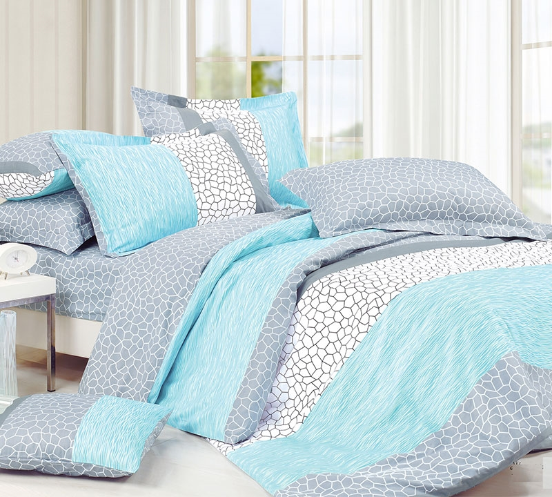 Dove Aqua King Comforter Oversized Xl Bedding