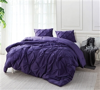 Best Full XL Comforter - Softest Purple Reign Pin Tuck Bedding Sets