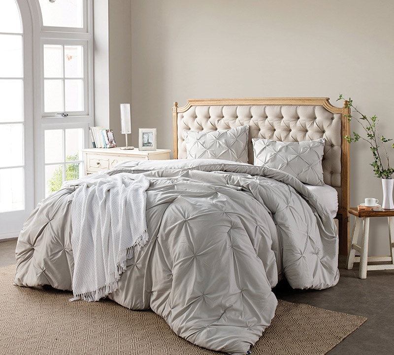 Extra Long Full Comforters Silver Birch Pin Tuck