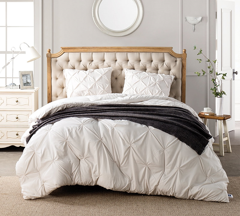 Extra Long King Bed Comforter Sets Available - Jet Stream Pin Tuck