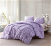 Beautiful Light Purple Orchid Petal Twin XL, Full XL, Queen XL, and King XL Comforter Stylish Pin Tuck Bedding