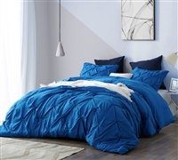 Pacific Blue Pin Tuck Comforter - Oversized Bedding
