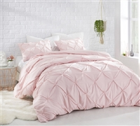 Rose Quartz Pin Tuck Comforter  - Oversized Bedding