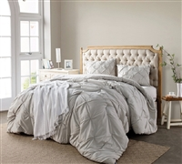 Silver Birch Pin Tuck Comforter - Oversized Bedding