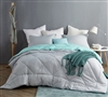 Glacier Gray/Yucca Full Comforter - Oversized Full XL Bedding
