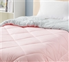 Rose Quartz/Glacier Gray Full Comforter - Oversized Full XL Bedding