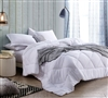 Extra Large Full Comforter in Easy to Match White Shade and Super Soft Microfiber Material