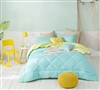 Yucca/Limelight Yellow Full Comforter - Oversized Full XL Bedding