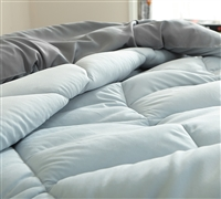 Glacier Gray/Alloy Queen Comforter - Oversized Queen XL Bedding