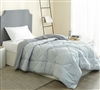 Machine Washable Twin Comforter with Extra Length and Extra Width Stylish Gray Reversible Bedding