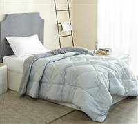 Glacier Gray/Alloy Twin Comforter - Oversized Twin XL Bedding