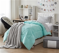 Oversized Twin Comforters - Hint of Mint/Yucca Twin XL Comforter - Best Comforters for Twin Beds