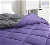 Super Soft Microfiber Machine Washable Twin Oversized Comforter Faded Black and Dark Purple XL Twin Bedding