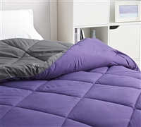 Purple Reign/Faded Black Twin Comforter - Oversized Twin XL Bedding
