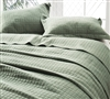 Classic Supersoft Quilt - Pre-Washed with Cotton Fill - Moss Green - Oversized Full XL