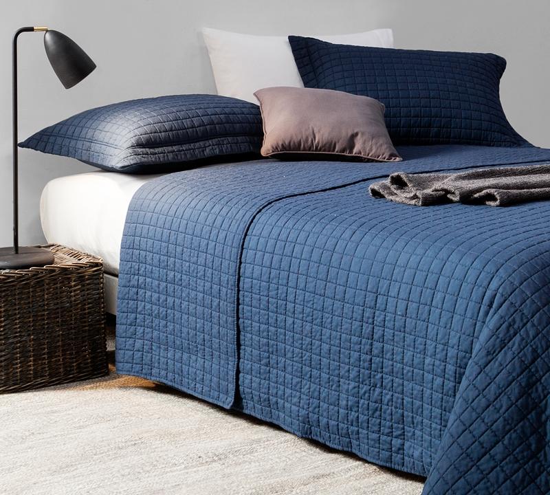 Super Soft Navy Blue King XL Oversized Quilt - 100% Microfiber ... : navy blue quilt - Adamdwight.com