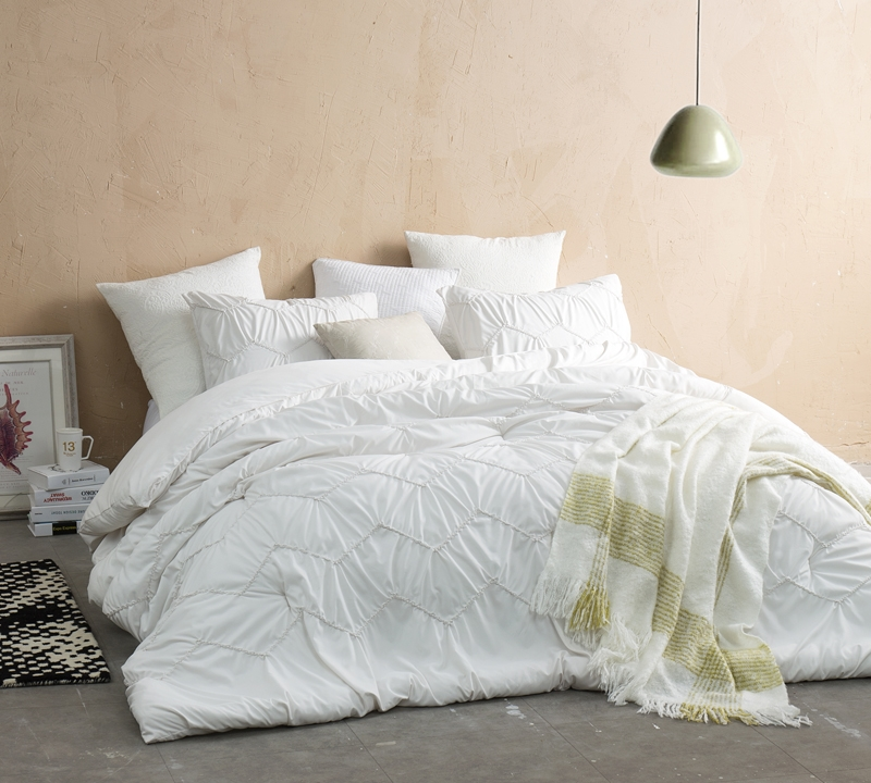 Textured Waves Full Comforter Supersoft Jet Stream
