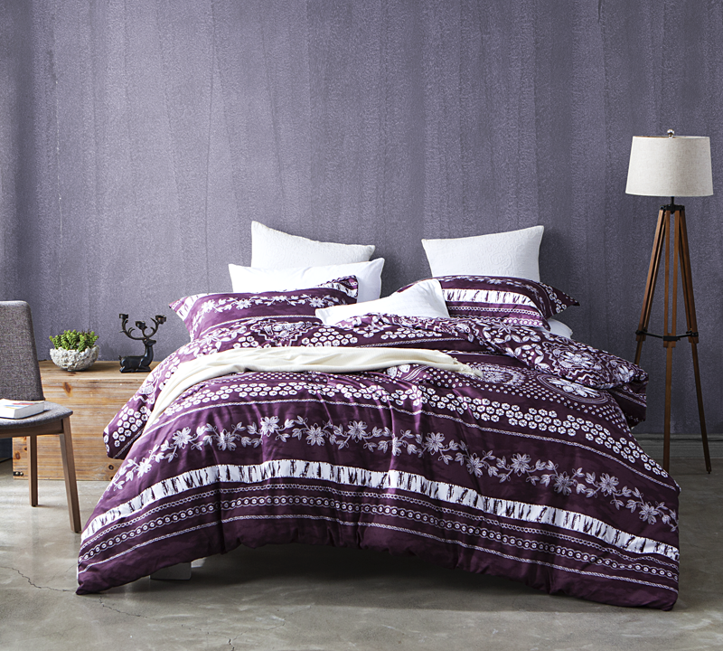 Mulberry Lilac Super Soft Twin oversized bedding Comforters with