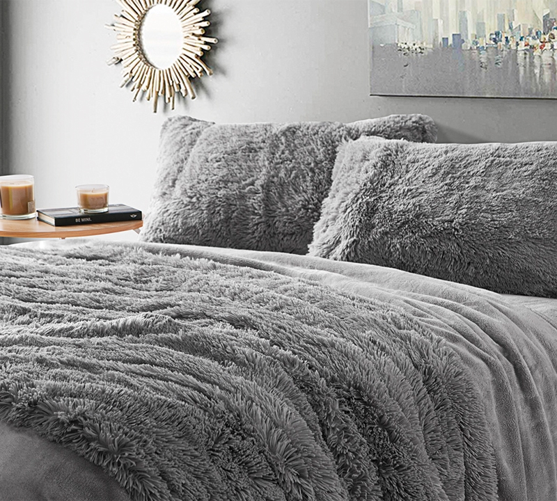 Lovely Are You Kidding Queen Sheets   Tundra Gray