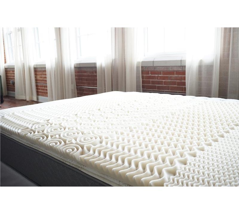Egg Crate Full Size Topper Memory Foam Bed Topper Egg