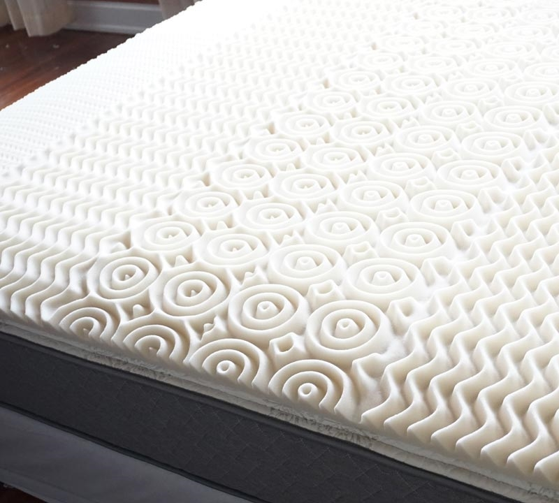 Memory Foam Queen Size Bed Topper Egg Crate Mattress