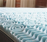 "Needed Bedding Addition - 2"" Gel-Infused Memory Foam Twin Topper - Makes Beds Comfortable"