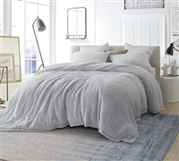 Coma Inducer Queen Comforter - Oversized Queen XL Bedding - Frosted - Granite Gray
