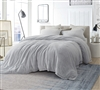 Coma Inducer Twin Comforter - Oversized Twin XL Bedding - Frosted - Granite Gray